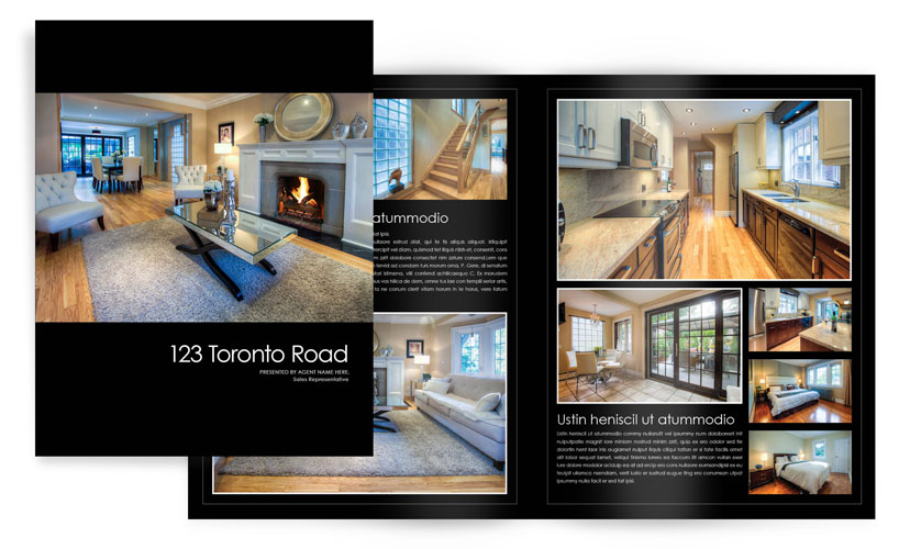 standard feature sheets booklets real estate photos marketing