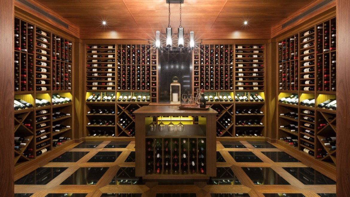 Luxury-Residential-Custom-Wine-Cellar-Sapele-Construction
