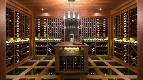 Luxury-Residential-Custom-Wine-Cellar-Sapele-Construction